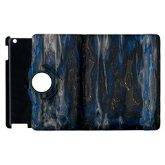 Blue black texture Apple iPad 3/4 Flip 360 Case