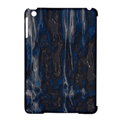 Blue Black Texture Apple Ipad Mini Hardshell Case (compatible With Smart Cover)