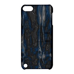 Blue Black Texture Apple Ipod Touch 5 Hardshell Case With Stand