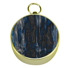 Blue black texture Gold Compass