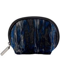 Blue black texture Accessory Pouch (Small)
