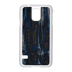 Blue Black Texture Samsung Galaxy S5 Case (white)