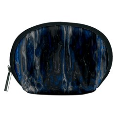 Blue black texture Accessory Pouch (Medium)