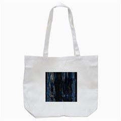 Blue black texture Tote Bag (White)