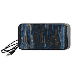Blue Black Texture Portable Speaker (black)