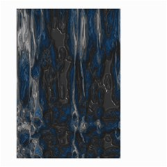 Blue Black Texture Small Garden Flag (two Sides)