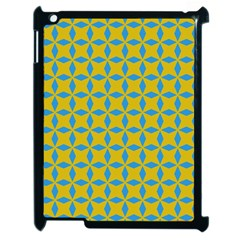 Blue Diamonds Pattern Apple Ipad 2 Case (black)
