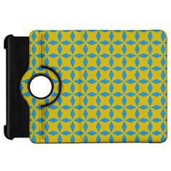 Blue Diamonds Pattern Kindle Fire Hd Flip 360 Case
