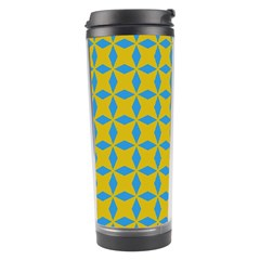 Blue Diamonds Pattern Travel Tumbler