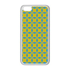 Blue diamonds pattern Apple iPhone 5C Seamless Case (White)
