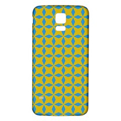 Blue diamonds pattern Samsung Galaxy S5 Back Case (White)