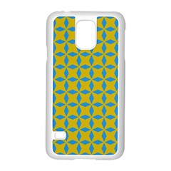 Blue diamonds pattern Samsung Galaxy S5 Case (White)