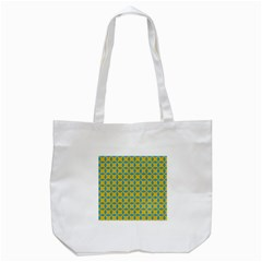 Blue diamonds pattern Tote Bag (White)