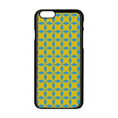 Blue Diamonds Pattern Apple Iphone 6 Black Enamel Case