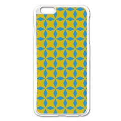 Blue diamonds pattern Apple iPhone 6 Plus Enamel White Case