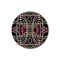 Tribal Style Ornate Grunge Pattern  Drink Coasters 4 Pack (round)