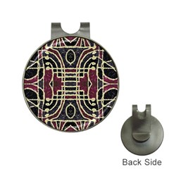 Tribal Style Ornate Grunge Pattern  Hat Clip With Golf Ball Marker