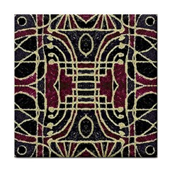 Tribal Style Ornate Grunge Pattern  Face Towel