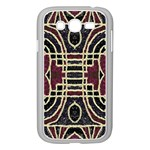 Tribal Style Ornate Grunge Pattern  Samsung Galaxy Grand DUOS I9082 Case (White) Front