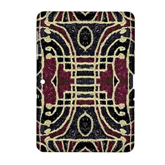 Tribal Style Ornate Grunge Pattern  Samsung Galaxy Tab 2 (10 1 ) P5100 Hardshell Case