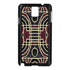 Tribal Style Ornate Grunge Pattern  Samsung Galaxy Note 3 N9005 Case (Black)