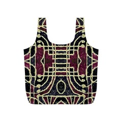Tribal Style Ornate Grunge Pattern  Reusable Bag (S)