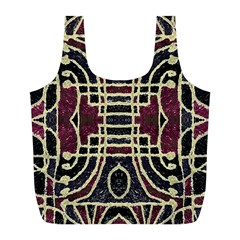 Tribal Style Ornate Grunge Pattern  Reusable Bag (L)
