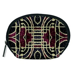 Tribal Style Ornate Grunge Pattern  Accessory Pouch (Medium)