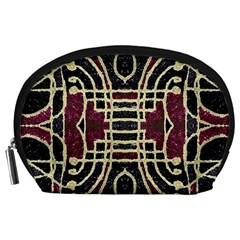 Tribal Style Ornate Grunge Pattern  Accessory Pouch (Large)