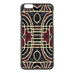 Tribal Style Ornate Grunge Pattern  Apple Iphone 6 Plus Black Enamel Case