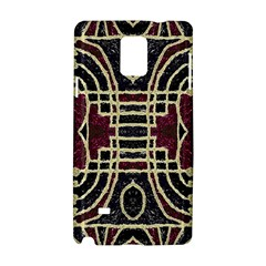 Tribal Style Ornate Grunge Pattern  Samsung Galaxy Note 4 Hardshell Case
