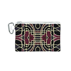 Tribal Style Ornate Grunge Pattern  Canvas Cosmetic Bag (Small)