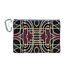 Tribal Style Ornate Grunge Pattern  Canvas Cosmetic Bag (medium)