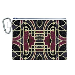 Tribal Style Ornate Grunge Pattern  Canvas Cosmetic Bag (Large)