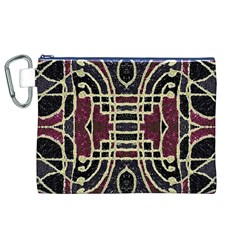 Tribal Style Ornate Grunge Pattern  Canvas Cosmetic Bag (XL)