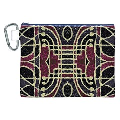 Tribal Style Ornate Grunge Pattern  Canvas Cosmetic Bag (XXL)