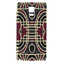 Tribal Style Ornate Grunge Pattern  Samsung Note 4 Hardshell Back Case