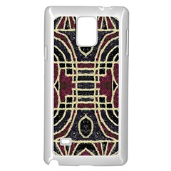 Tribal Style Ornate Grunge Pattern  Samsung Galaxy Note 4 Case (white)