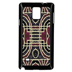 Tribal Style Ornate Grunge Pattern  Samsung Galaxy Note 4 Case (black)