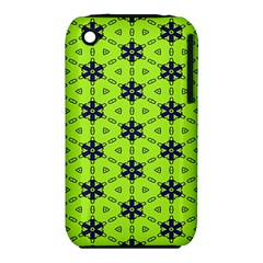 Blue flowers pattern Apple iPhone 3G/3GS Hardshell Case (PC+Silicone)