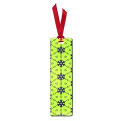 Blue Flowers Pattern Small Book Mark