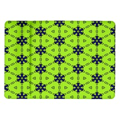 Blue flowers pattern Samsung Galaxy Tab 10.1  P7500 Flip Case