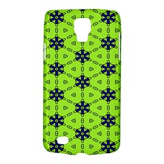 Blue Flowers Pattern Samsung Galaxy S4 Active (i9295) Hardshell Case