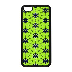 Blue flowers pattern Apple iPhone 5C Seamless Case (Black)
