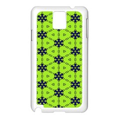 Blue flowers pattern Samsung Galaxy Note 3 N9005 Case (White)