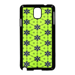 Blue flowers pattern Samsung Galaxy Note 3 Neo Hardshell Case (Black)