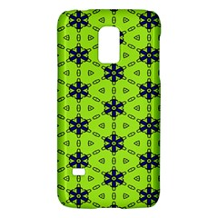 Blue flowers pattern Samsung Galaxy S5 Mini Hardshell Case