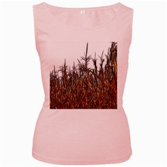 Abstract Of A Cornfield Women s Tank Top (pink)