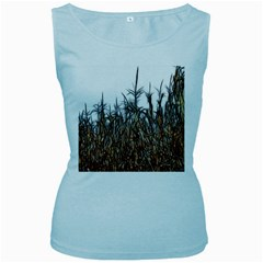 Abstract Of A Cornfield Women s Tank Top (baby Blue)