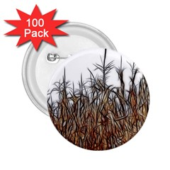 Abstract Of A Cornfield 2 25  Button (100 Pack)